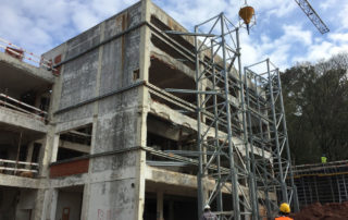 contenção de fachadas obras