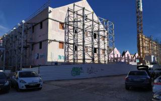 contenção de fachada obras públicas