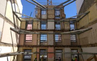 contenção de fachadas obra