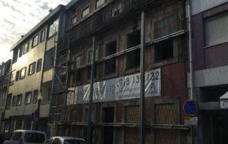 contenção de fachada reabilitação arquitectónica