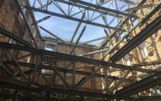 contenção de fachadas estruturas