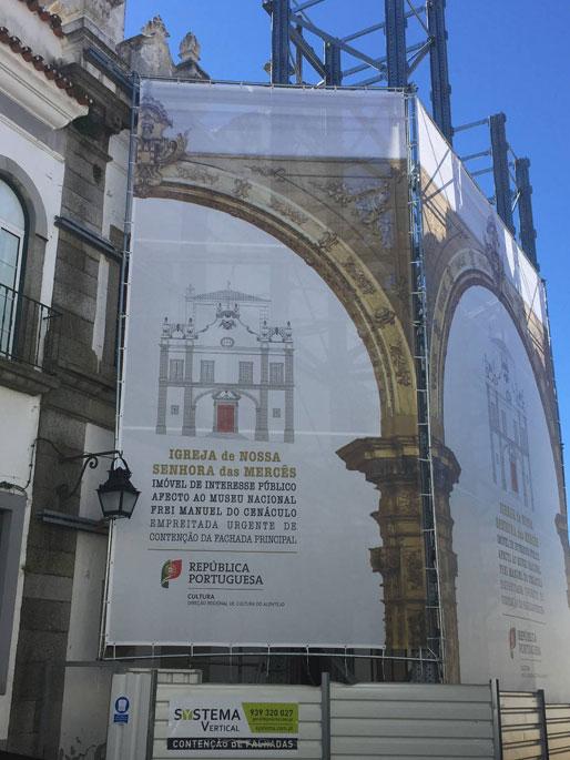 contenção de fachadas igreja Lisboa