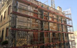 contenção de fachadas centro histórico