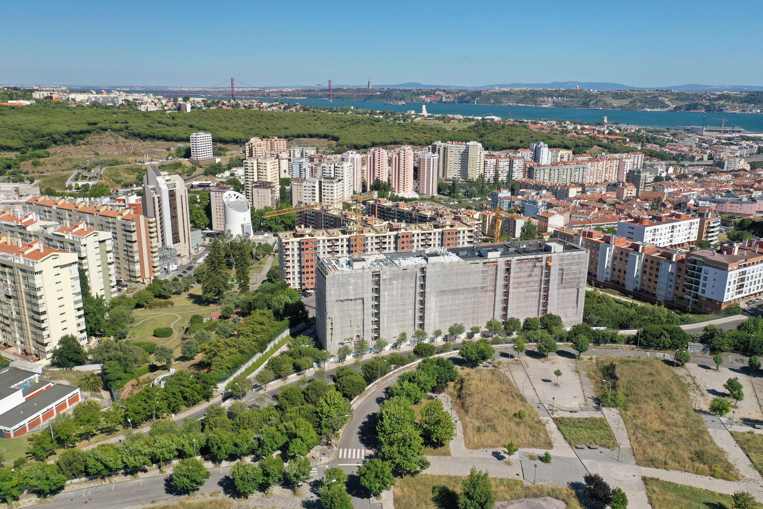 Projecto Almarjão vista edificios